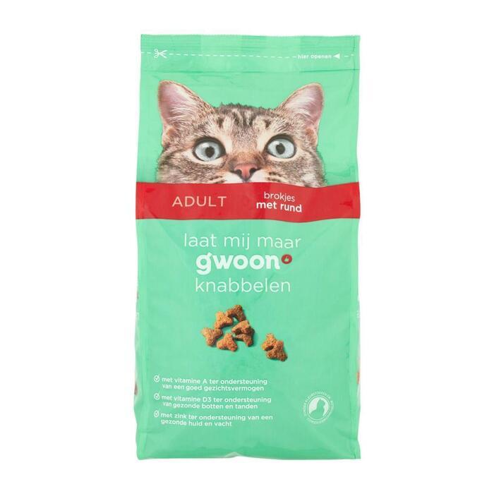 g'woon Knabbels vlees voor de kat (2kg)