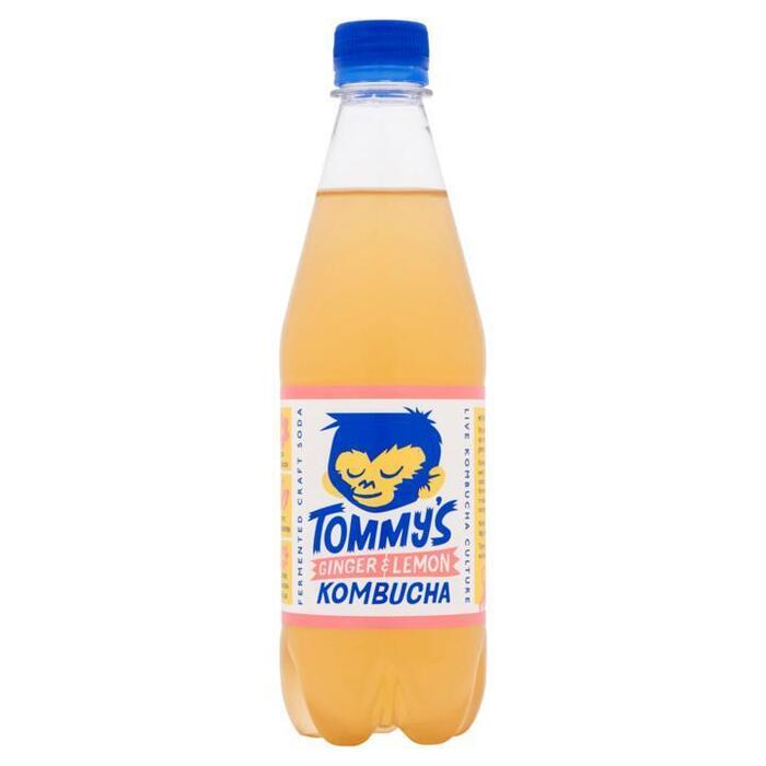 Tommy's Kombucha ginger & lemon 50cl (rol, 50 × 0.5L)