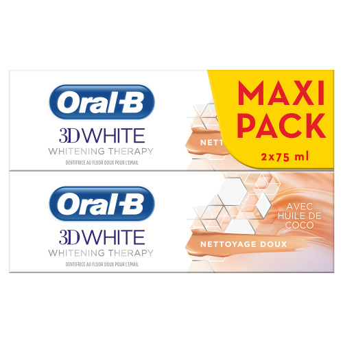 Oral-B 3D White Whitening Therapy Zachte Reiniging Tandpasta 2x75ml
