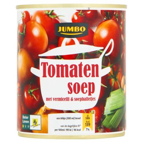 Tomatensoep met Vermicelli & Soepballetjes (blik, 30cl)