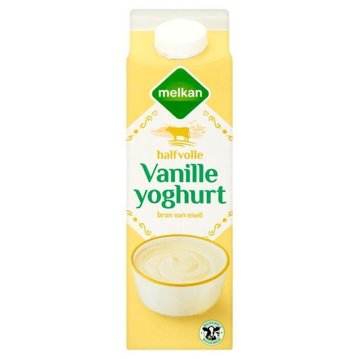 Halfvolle Vanille Yoghurt (pak, 1L)