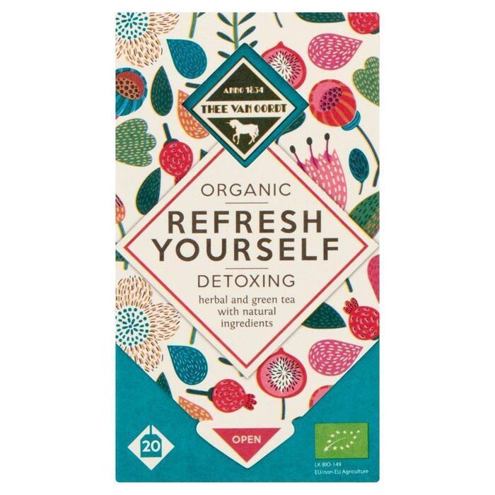 Thee Van Oordt Detoxing Herbal & Green Tea 1-kops (1.5g)