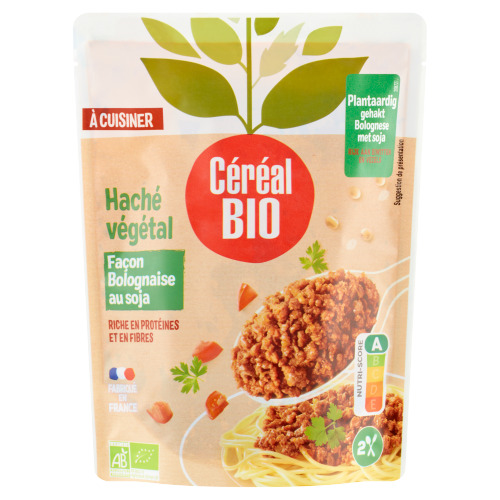 Céréal Bio Plantaardig Gehakt Bolognaise met Soja 250 g (250g)