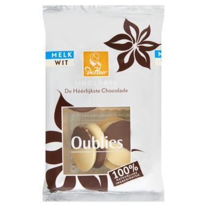 Oublies Melk Wit (reep, 150g)
