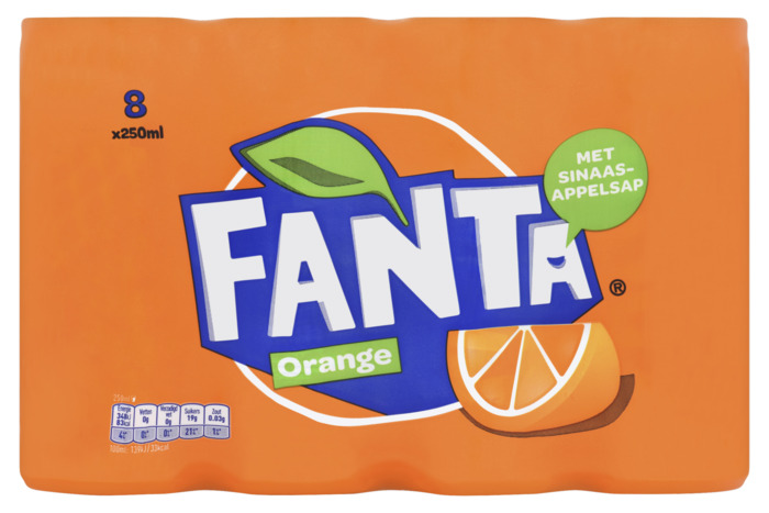 Fanta Orange (rol, 8 × 250ml)