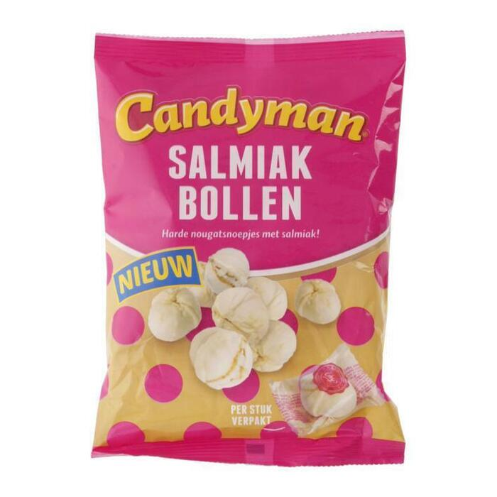 Candy Man Salmiak bollen (125g)