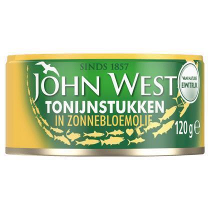 Tonijnstukken in zonnebloemolie, (Blik 120g) (120g)