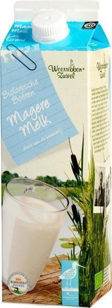 Biologische Magere melk (pak, 1L)