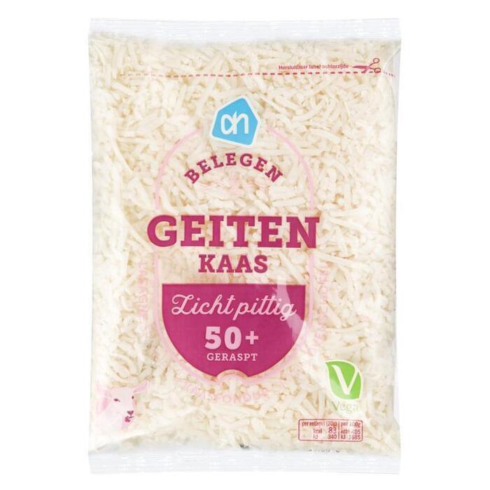 AH Geraspte belegen geitenkaas 50+ (zak, 150g)