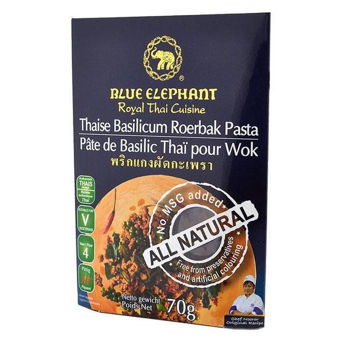Blue Elephant Thaise basilicum roerbak pasta (70g)