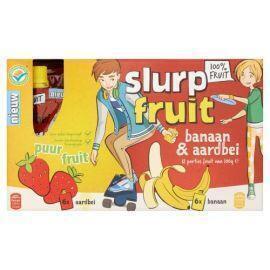 Aardbei-banaan 100% fruit (12 × 1.2kg)