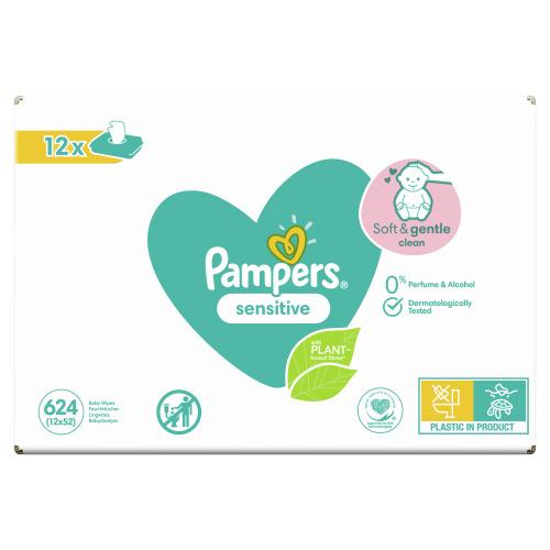 Pampers Baby Wipes Sensitive 12  stuks