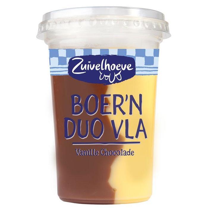 Boer'n vla duo choco vanille (500g)