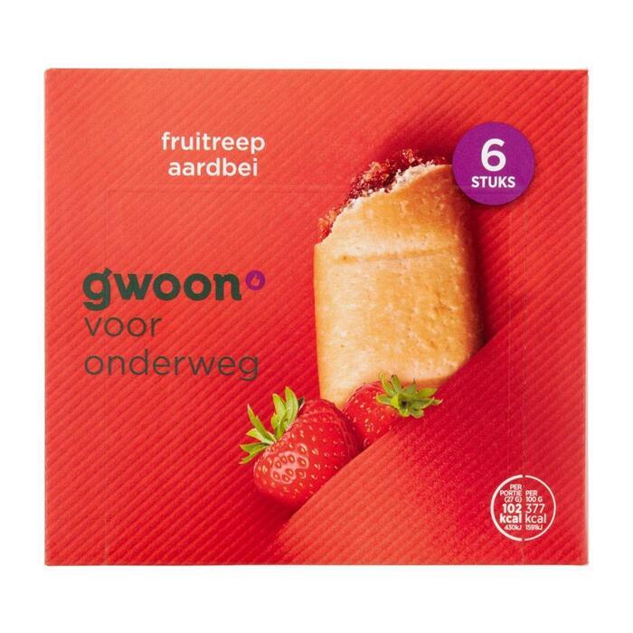 g'woon Fruitreep aardbei (120g)