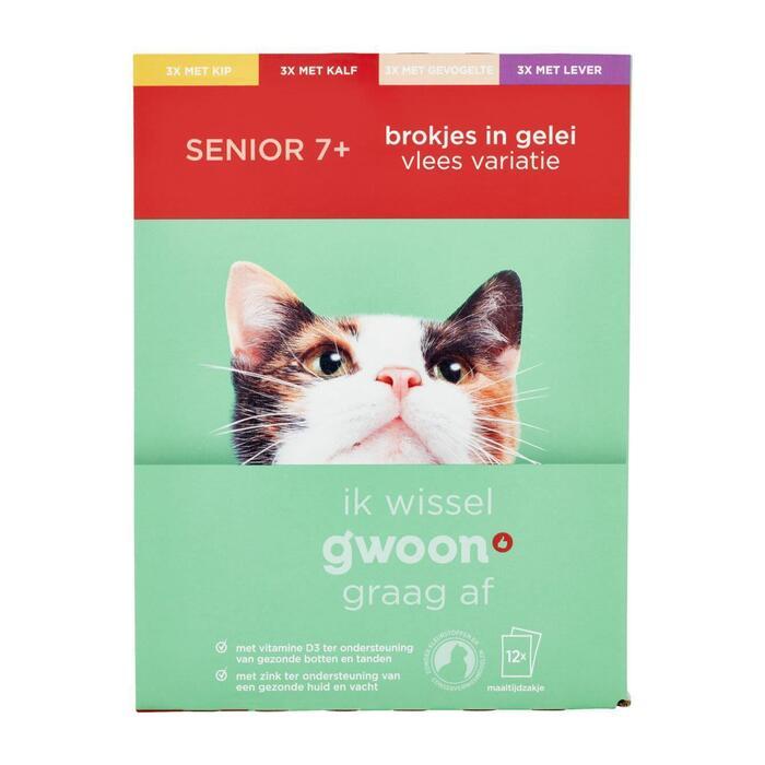 g'woon Kattenvoer senior (12 × 100g)