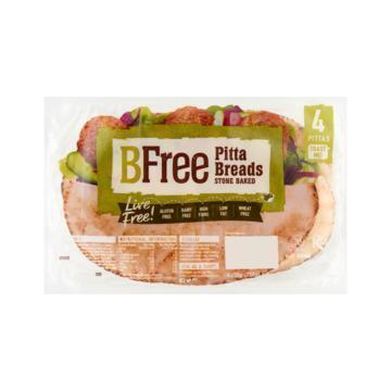BFree Be Wheat & Gluten Free Pitta Breads Stone Baked 4 x 55 g (4 × 55g)