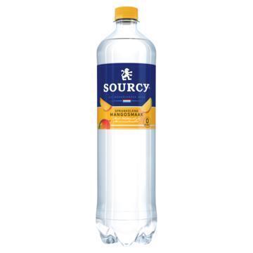 Sourcy Rood mineraalwater mango fles (1L)