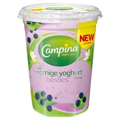 Campina yoghurt bosbes 450g cup (450g)