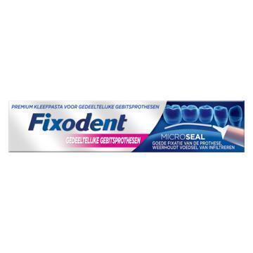 Fixodent Microseal Voor Gedeeltelijke Gebitsprothesen, Premium Kleefpasta 40ml (40g)