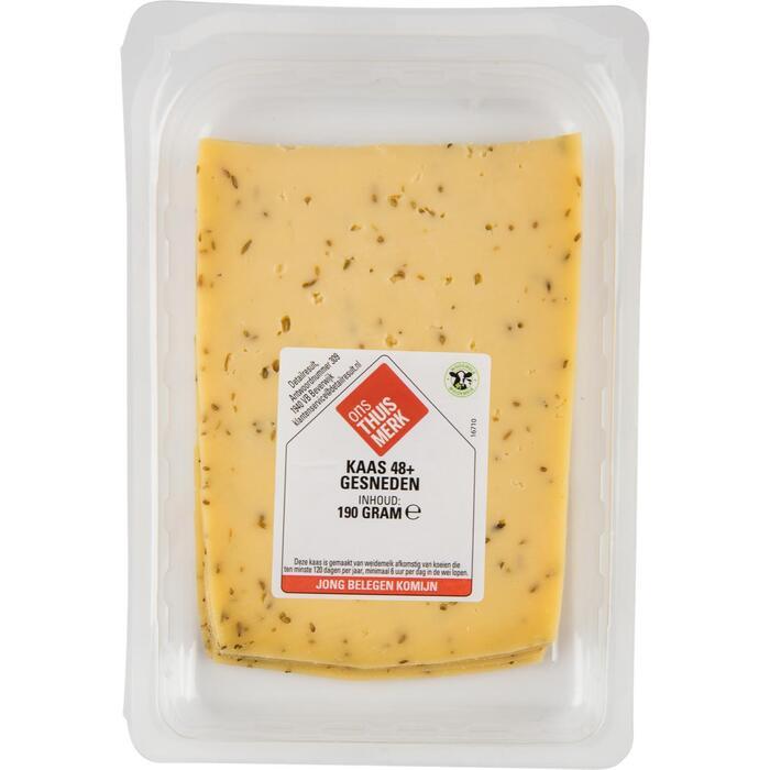Kaas jong belegen komijn 48+ gesneden (190g)