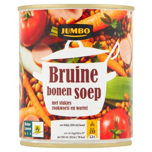 Jumbo Bruine Bonensoep met Stukjes Rookworst en Wortel 300 ml (30cl)