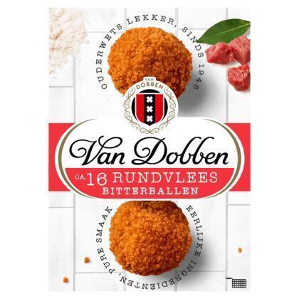 Van Dobben Rundvlees Bitterballen 16 x 25 g (16 × 400g)