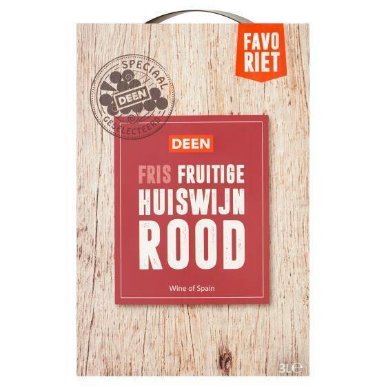 Deen Favoriet Fris Fruitige Huiswijn Rood 3 L (3L)