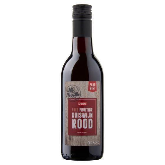 Deen Favoriet Fris Fruitige Huiswijn Rood 0,25 L (250ml)