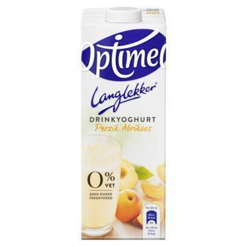 Optimel Langlekker drinkyoghurt 0% vet perzik abrikoos (1L)