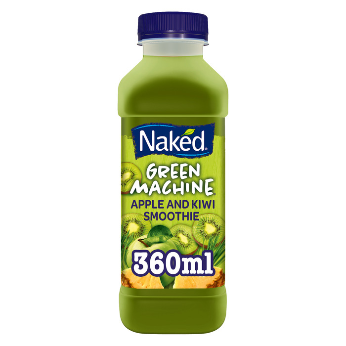 Naked Smoothie Green Machine Apple, Kiwi & Spirulina Extract Smoothie 360ml (36cl)
