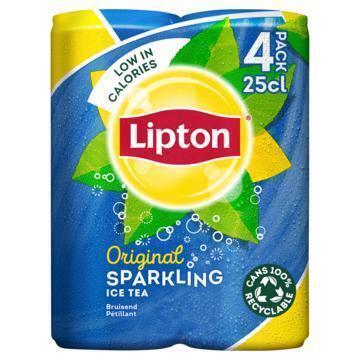 Lipton Ice Tea Sparkling Original 4 x 250 ml (4 × 250ml)