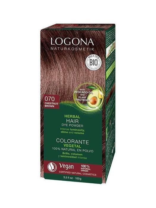 Haarkleuring 070 Kastanjebruin Logona 100g (100g)