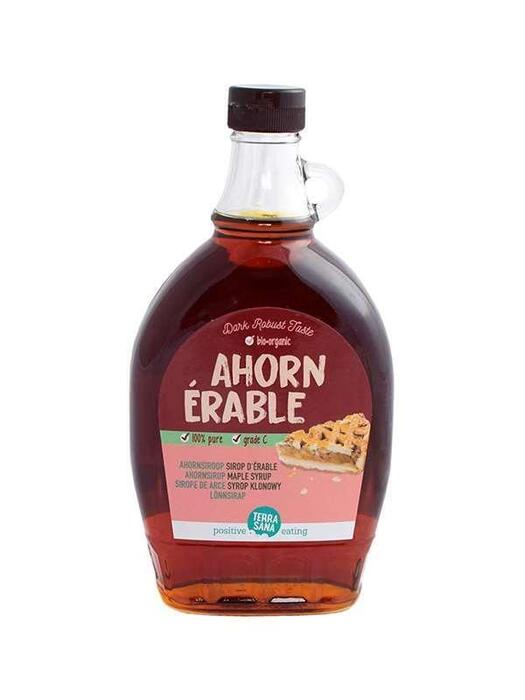 Ahornsiroop, graad C [glazen Karaf] TerraSana 500ml (0.5L)