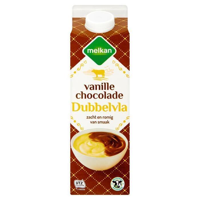 Melkan Dubbelvla vanille-chocolade (1L)