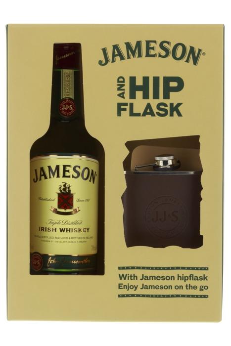 Jameson Giftpack met Hipflask (0.7L)