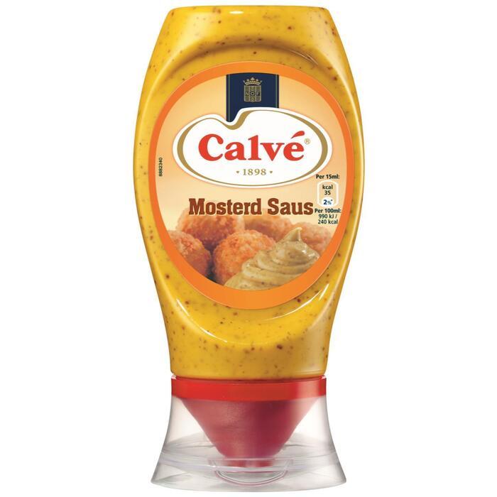 Calvé Saus Squeeze Mosterd 250ml (250ml)