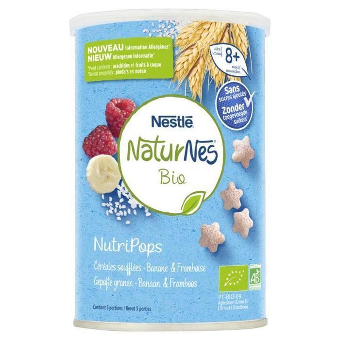 NaturNes Bio nutripops banaan framboos (35g)