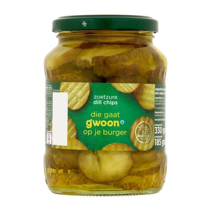 g'woon Augurken dill chips zoetzuur (330g)