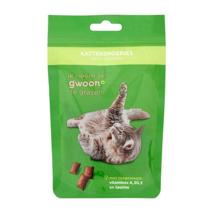 g'woon Kattensnack anti-haarbal (60g)