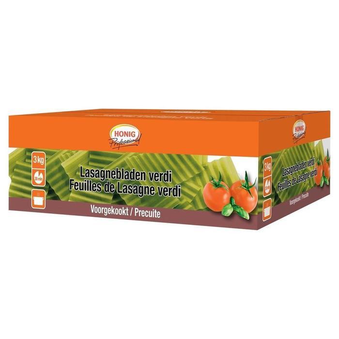 Honig Professional Droog Deegwaar Lasagnebladen Verdi Voorgekookt 3 kg Verpakt, geen specificatie (3kg)