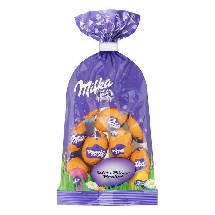 MILKA CHOCOLADE EI - MINI WIT MET PRALINEVULLING 100 GR (100g)
