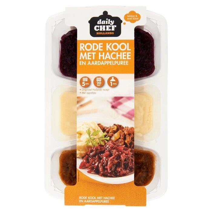 Daily Chef Rode kool met hachee & aardappelpuree (500g)