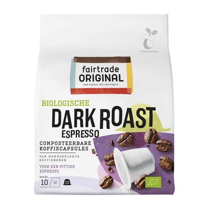 Fairtrade Original Dark roast espresso capsules bio (10 × 50g)