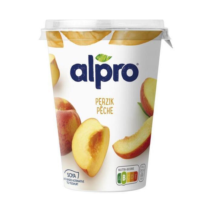 Soya yoghurt perzik (Stuk, 500g)