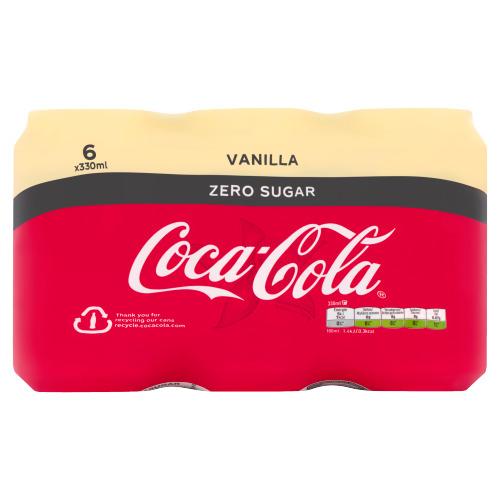 Coca-Cola Zero Vanilla Blik 0.33L 6x (6 × 33cl)