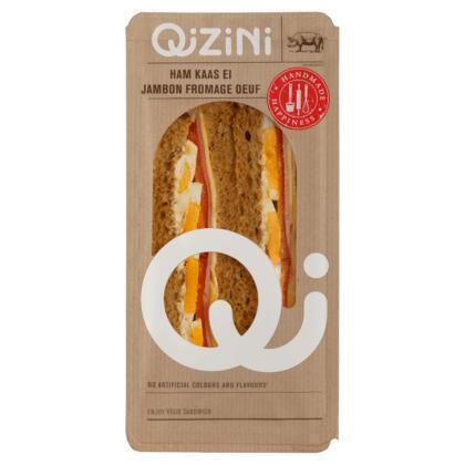 Qizini Sandwich ham, kaas, sla & tomaat (160g)