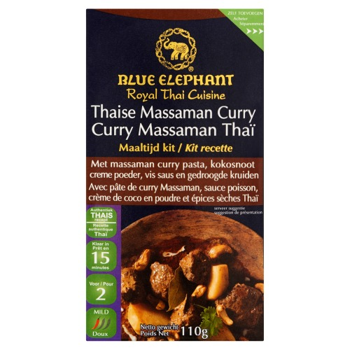 Blue Elephant Thaise massaman curry maaltijd kit (110g)