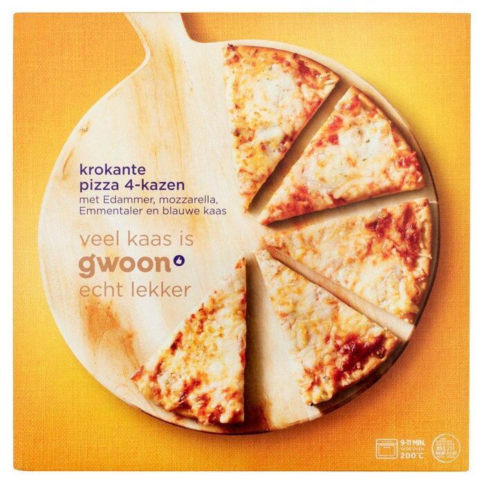 g'woon Krokante pizza 4 formaggi (340g)