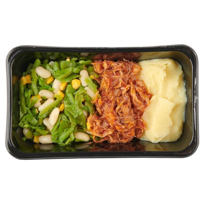 Pulled chicken puree en snijbonen (450g)