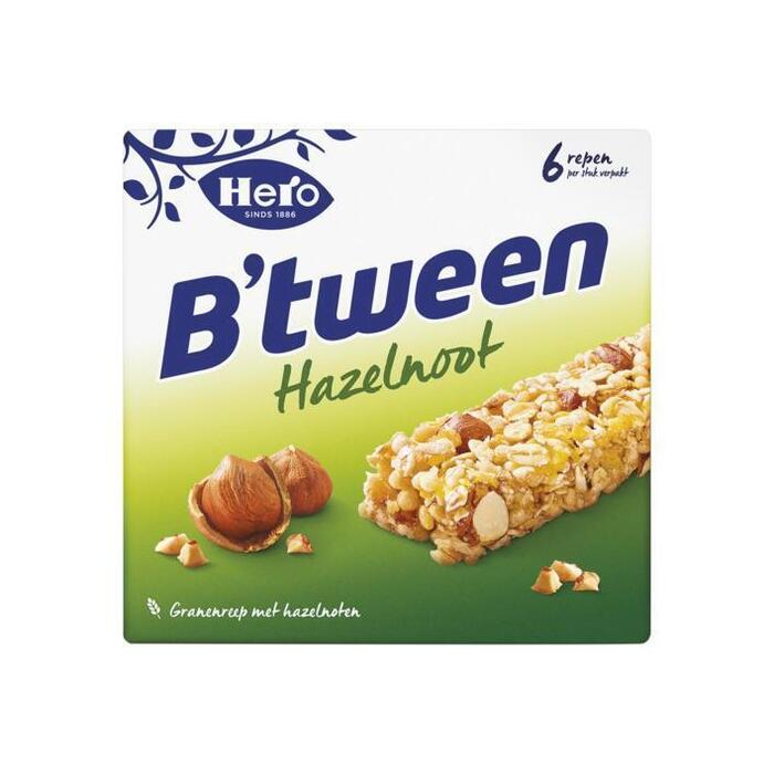 Hero B'tween Hazelnoot 6 x 25 g (Stuk, 6 × 150g)